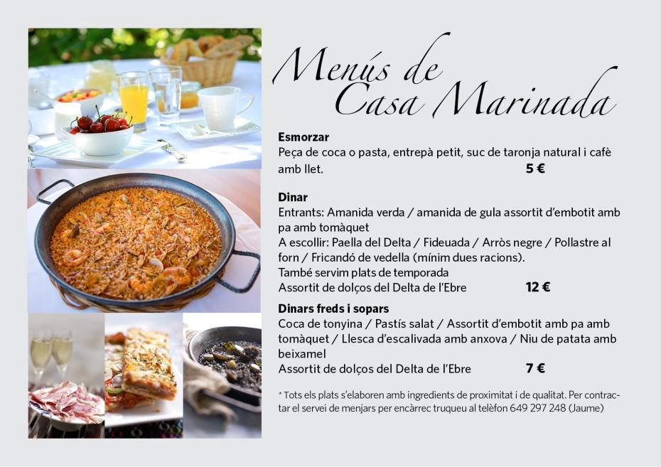 Menus Casa Marinada